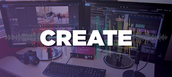 Produce professional quality digital media projects on our Media Workstations