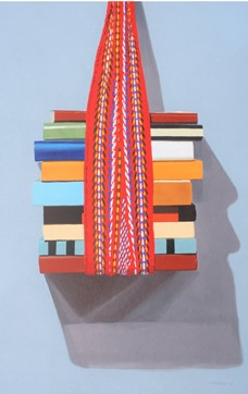 Books wrapped in a scarf